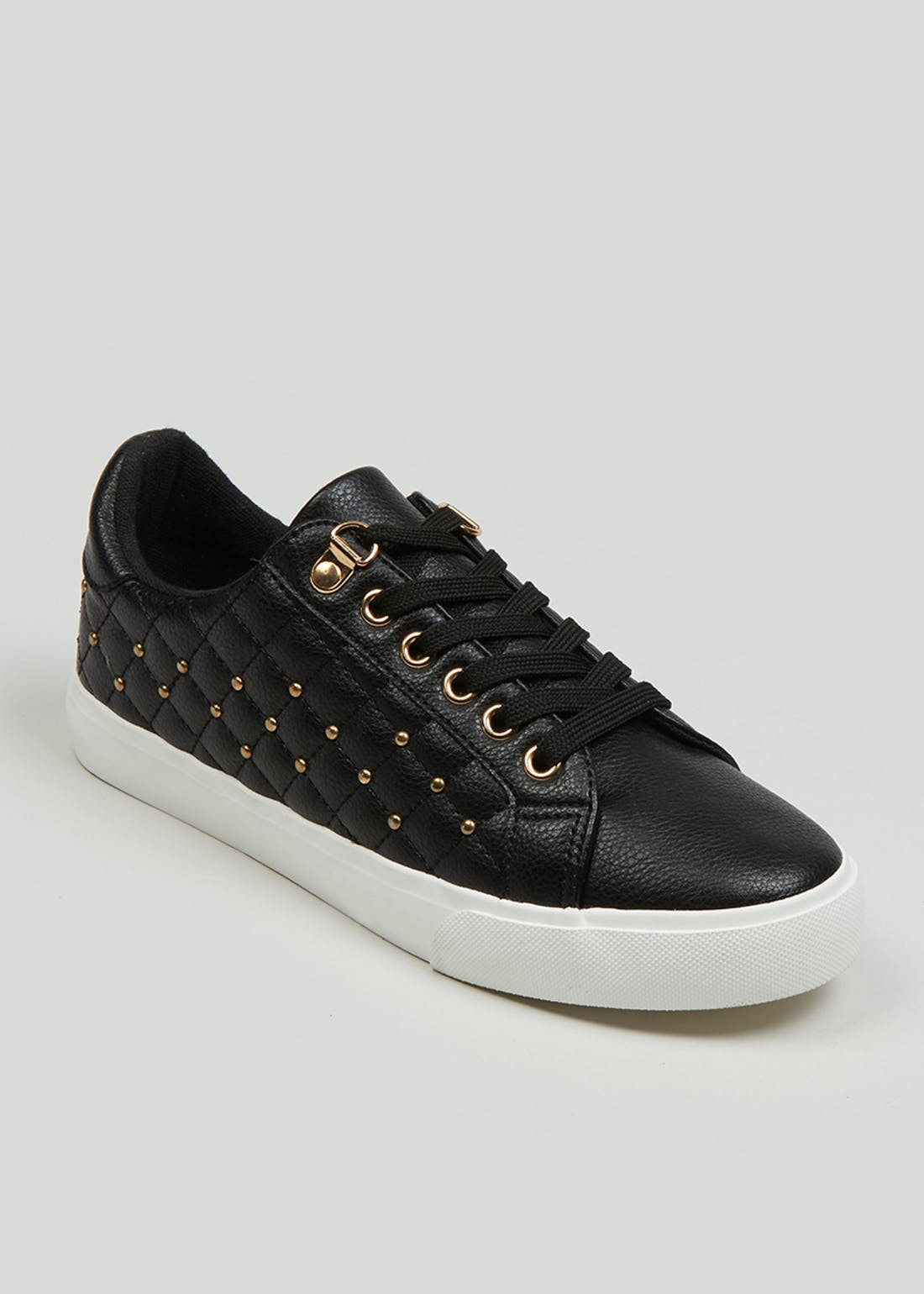 Black Quilted Trainers