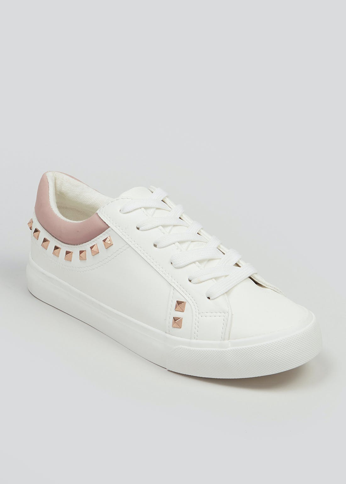 White Square Stud Trainers