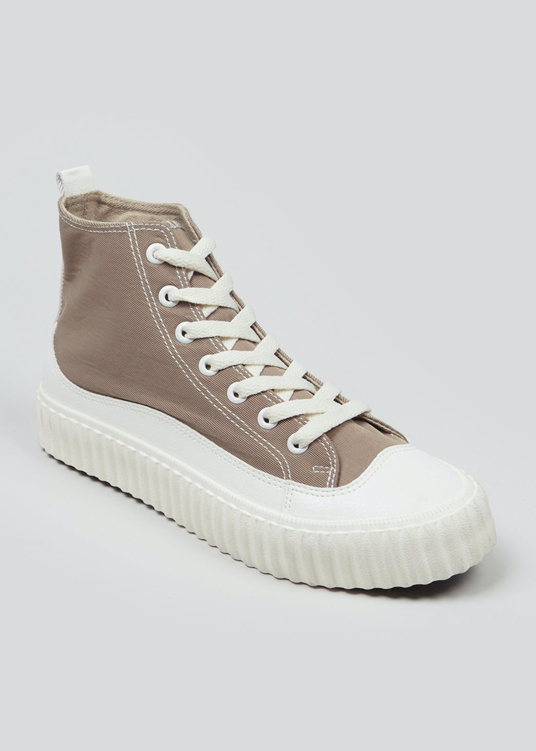Beige High-Top Trainers