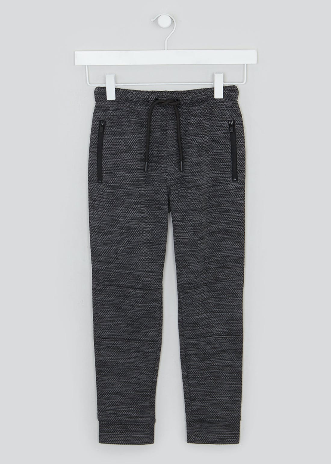Boys Marl Zip Pocket Joggers (4-13yrs)