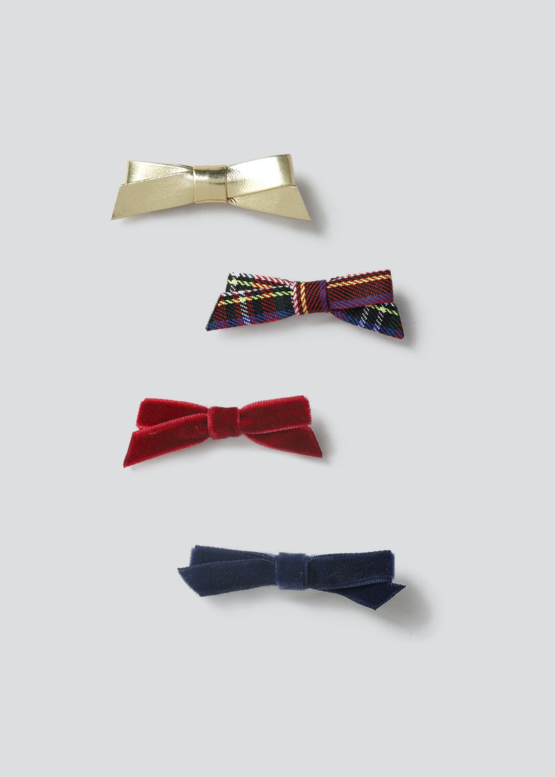 Girls Christmas Bow Clips