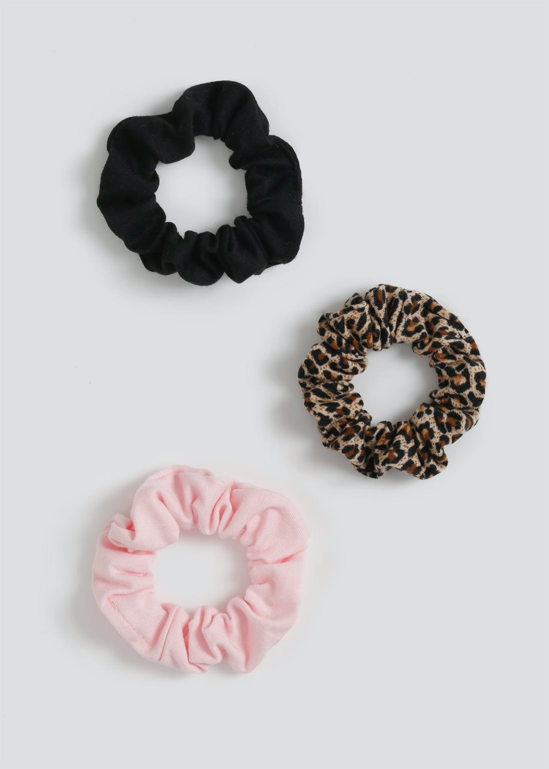 Girls Leopard Scrunchie 3 Pack