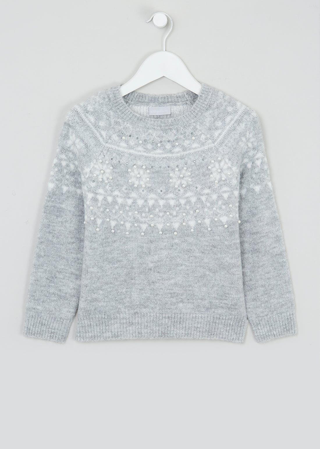 Girls Fair Isle Christmas Jumper (4-13yrs)