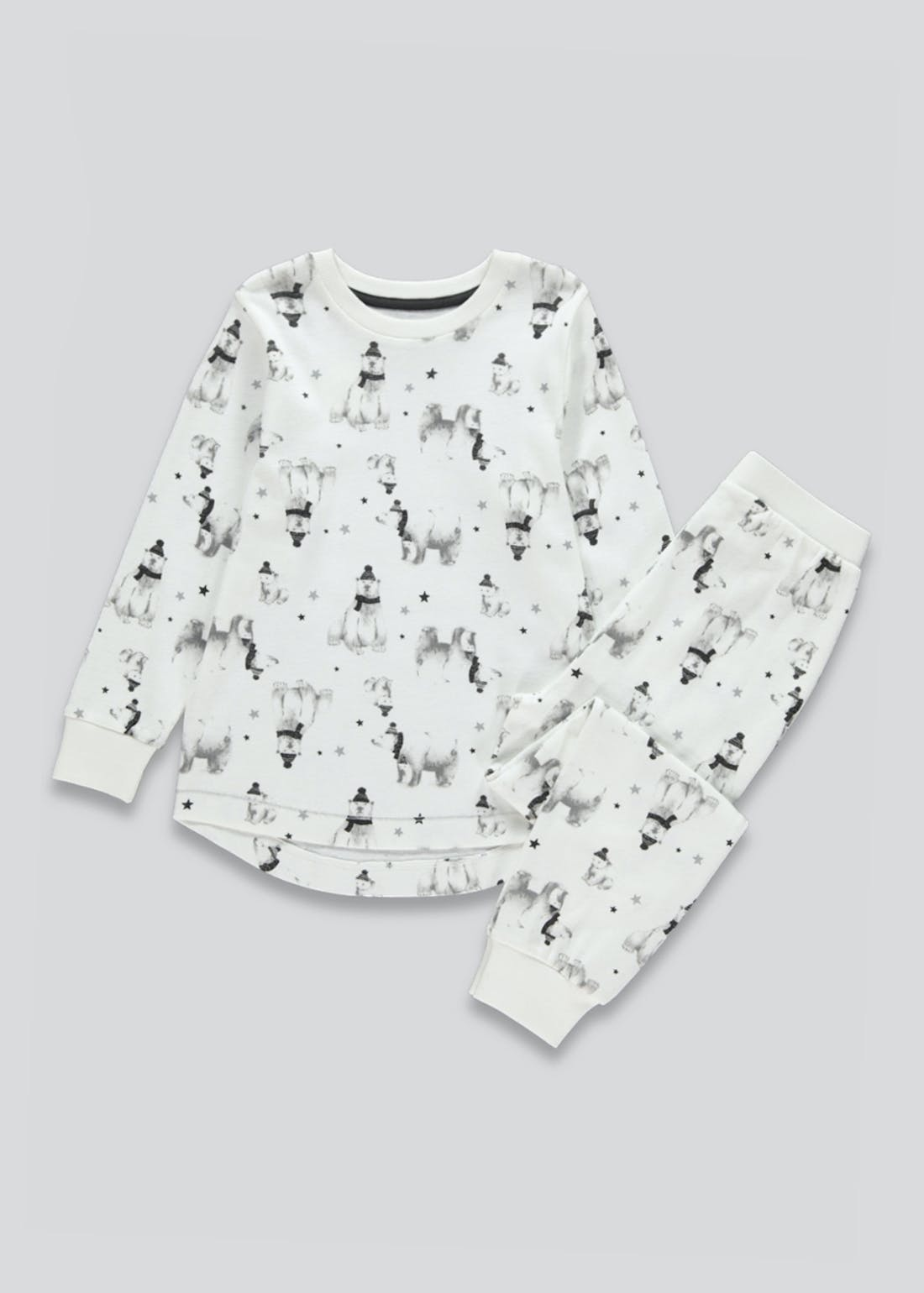 Kids Polar Bear Print Family Pyjamas (9mths-7yrs)