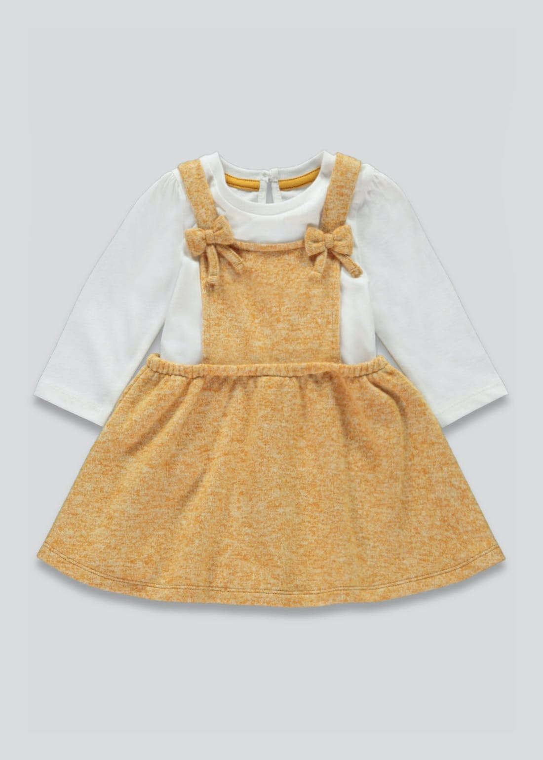 Girls Dungaree Dress & Top Set (Tiny Baby-23mths)