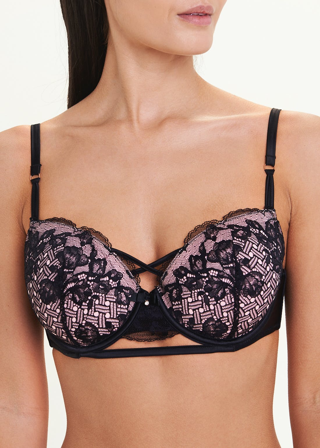 Criss Cross Lace Bra