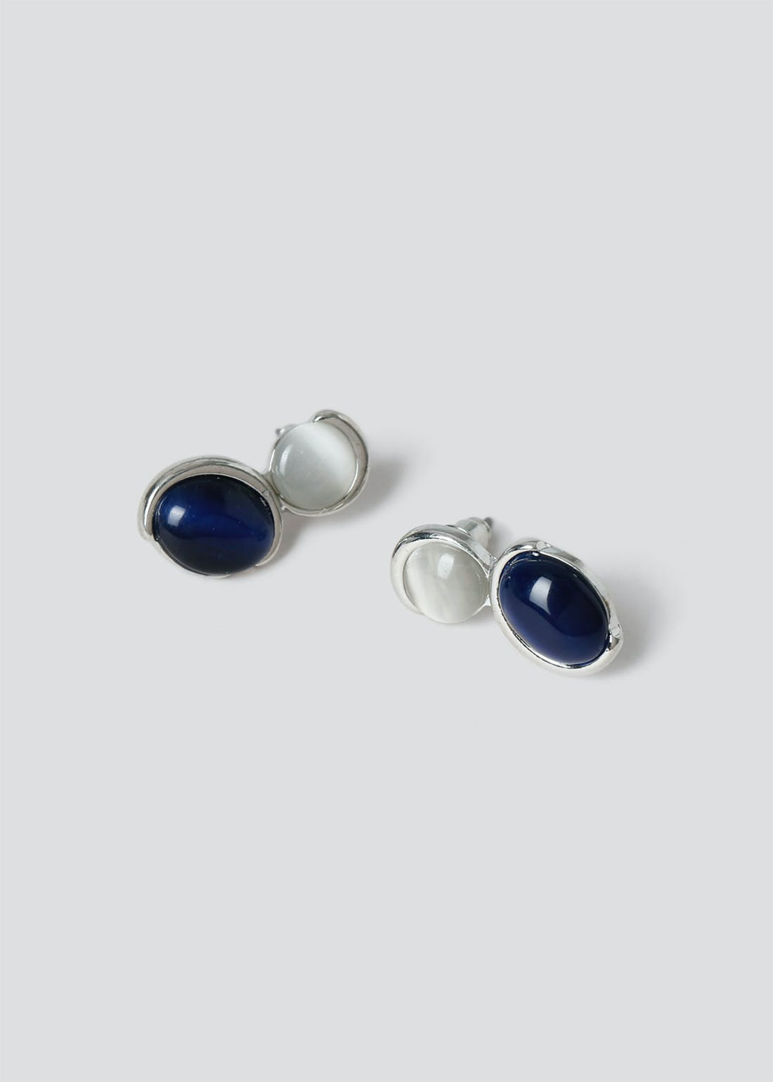 Double Cats Eye Stud Earrings