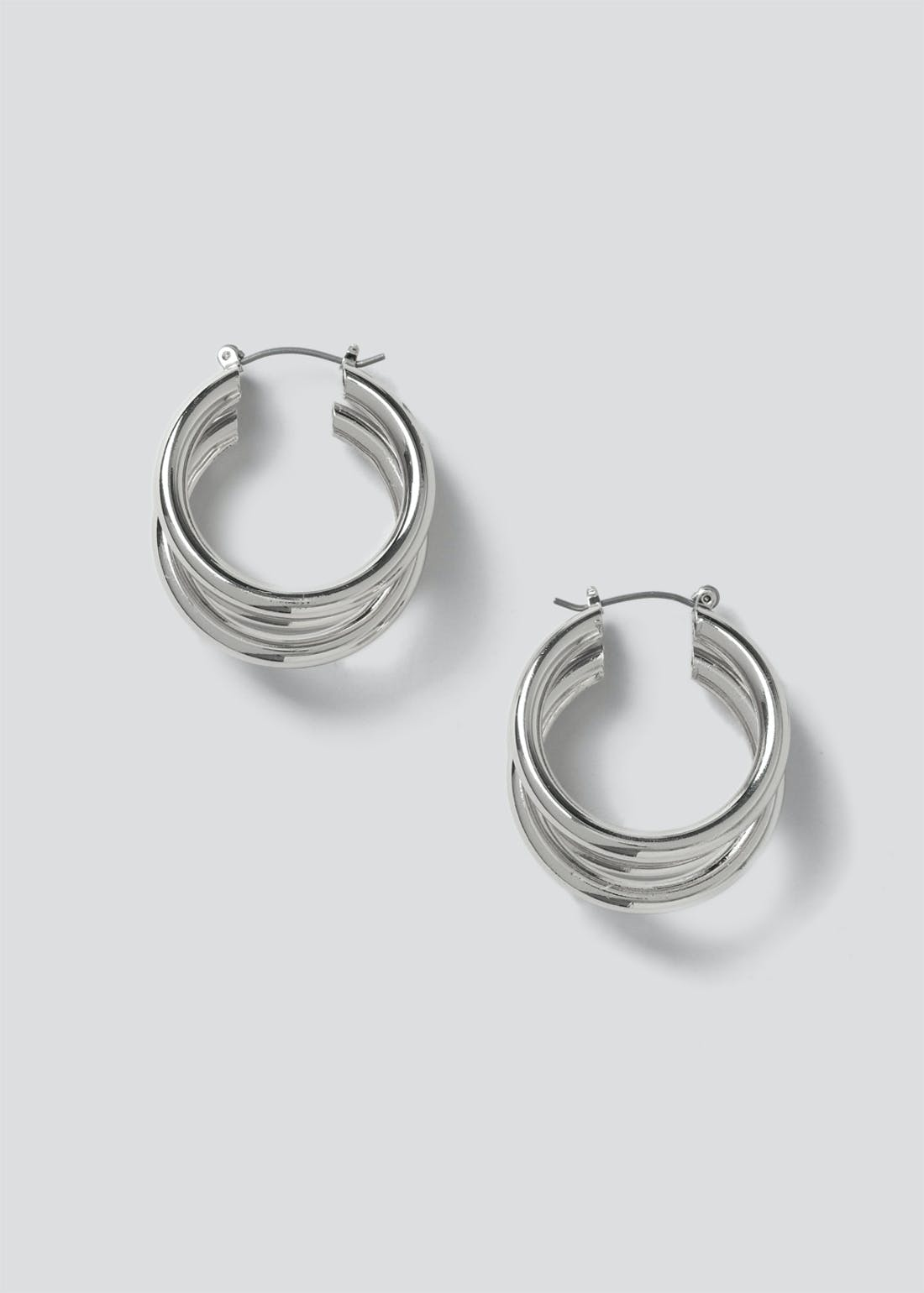 Triple Row Hoop Earrings
