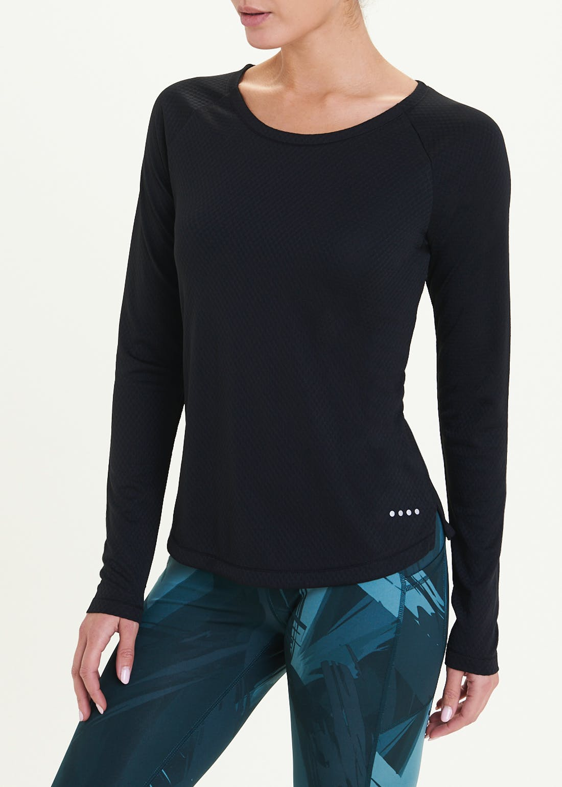 Souluxe Long Sleeve Rainbow Tape Gym Top