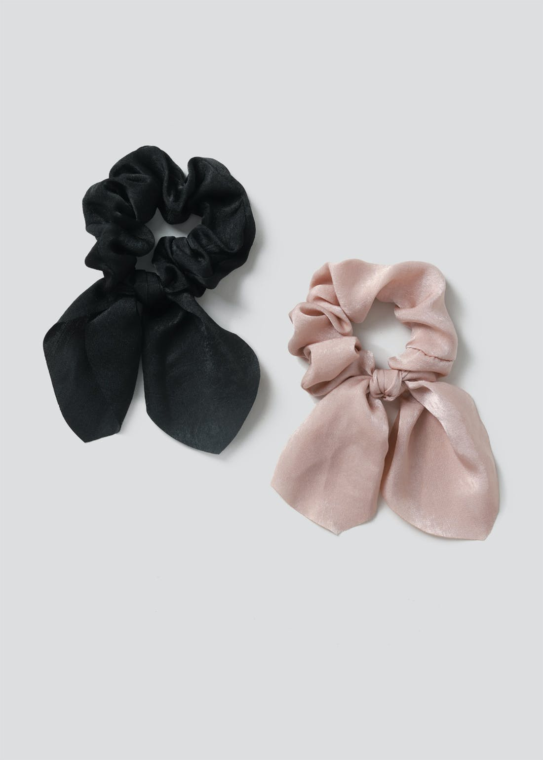 2 Pack Bow Scrunchies