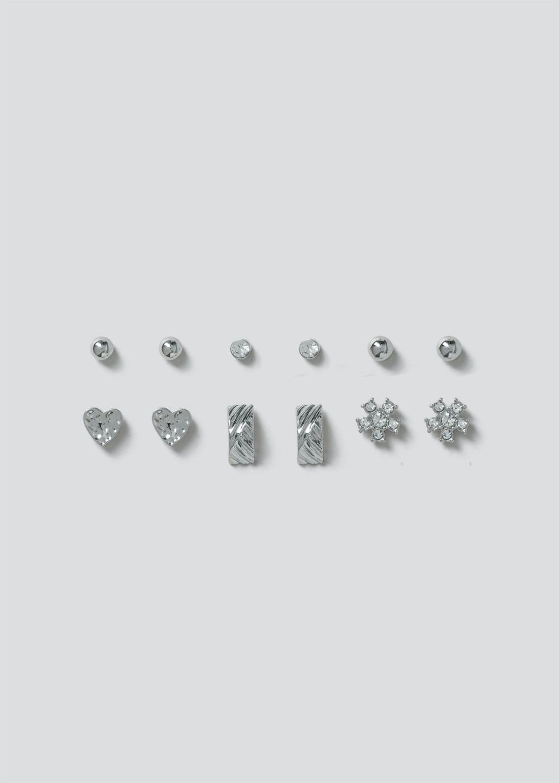 6 Pack Stud Earrings