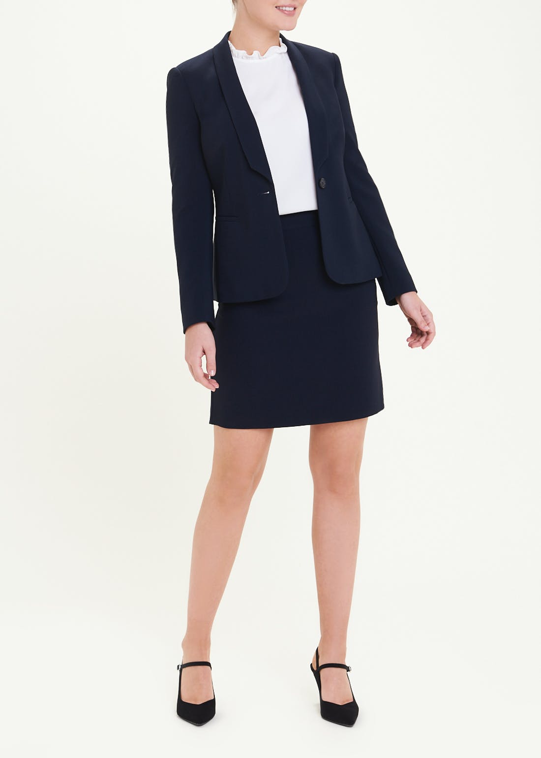 Essential A-Line Suit Skirt