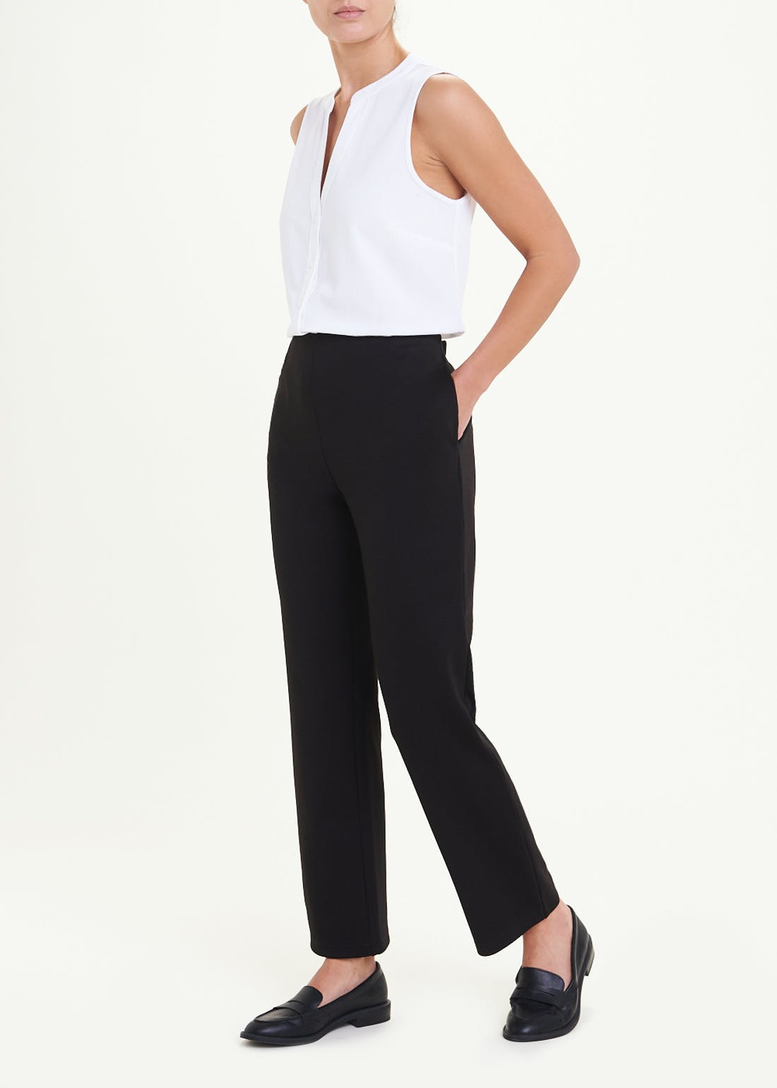 Papaya Classic Ponte Trousers