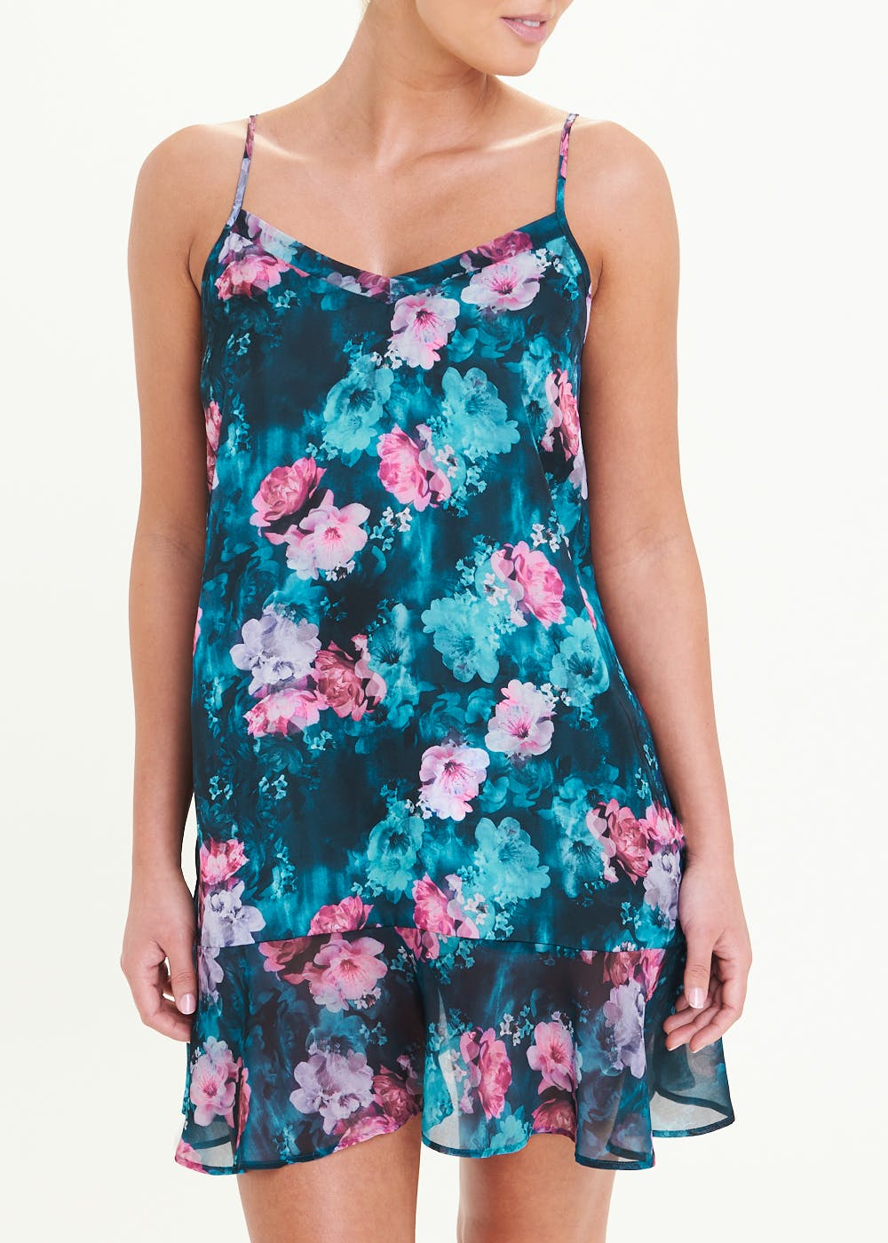 Floral Chemise – Navy
