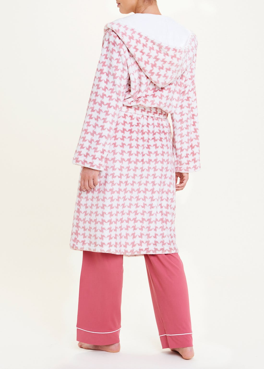Star Print Fleece Dressing Gown