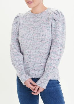 Textured Puff Sleeve Jumper