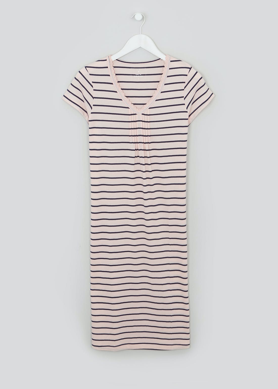 Stripe Lace Trim Nightie