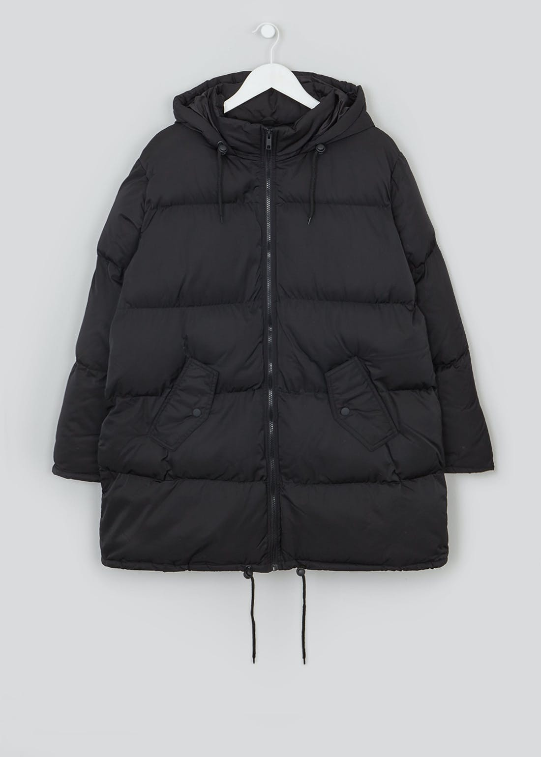 Papaya Curve Black Padded Coat