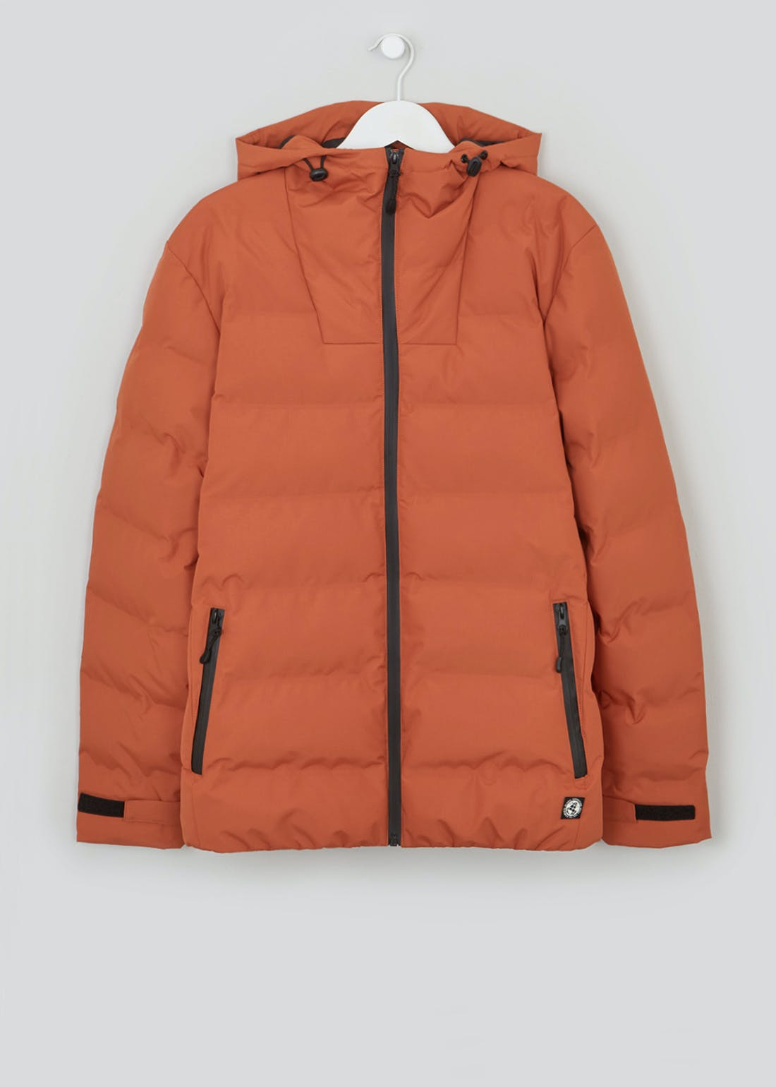 Orange Heat Seal Hooded Puffer Jacket