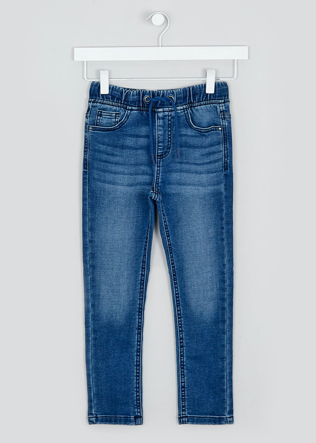 Boys Pull On Knitted Slim Fit Jeans (4-13yrs)