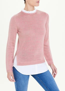 2 in 1 Frill Shirt Jumper