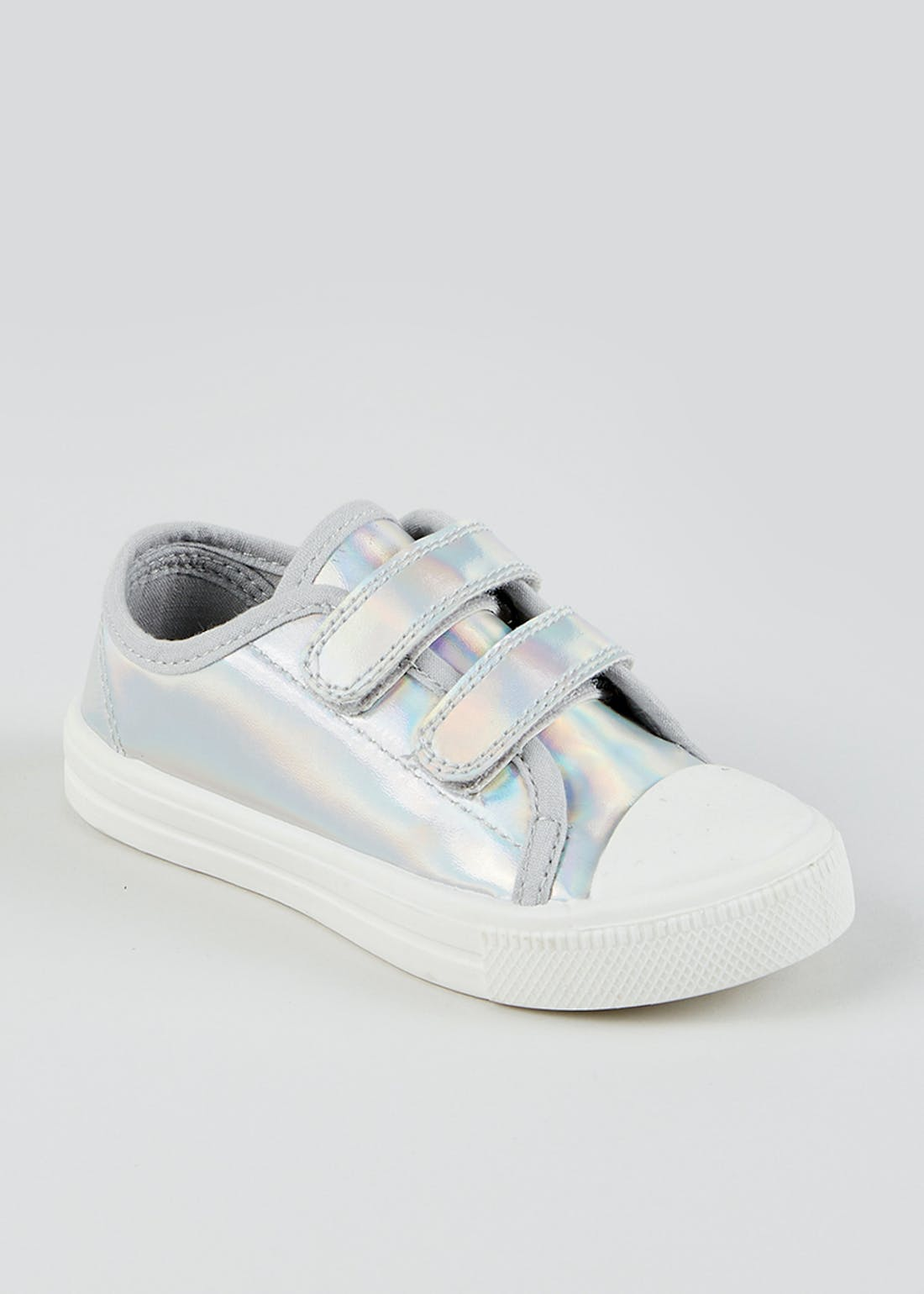 Kids Silver Twin Strap Trainers (Younger 4-12)