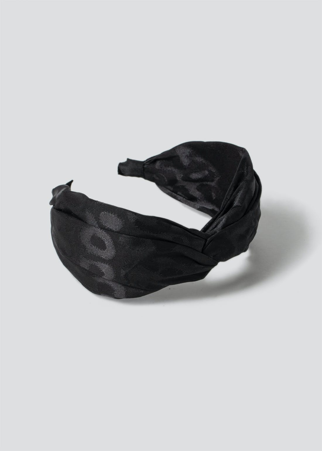Twist Knot Satin Leopard Headband