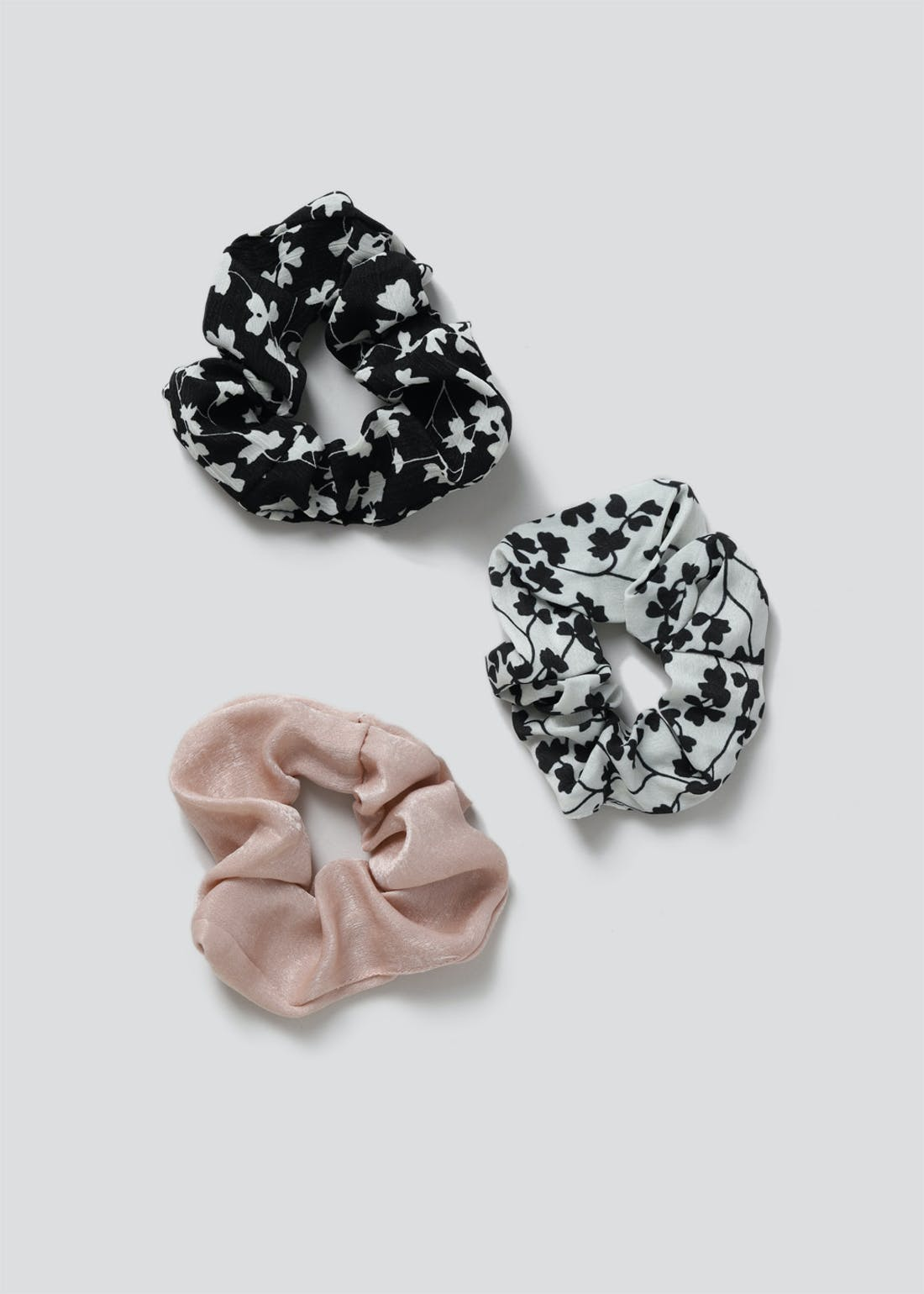 3 Pack Floral Scrunchies