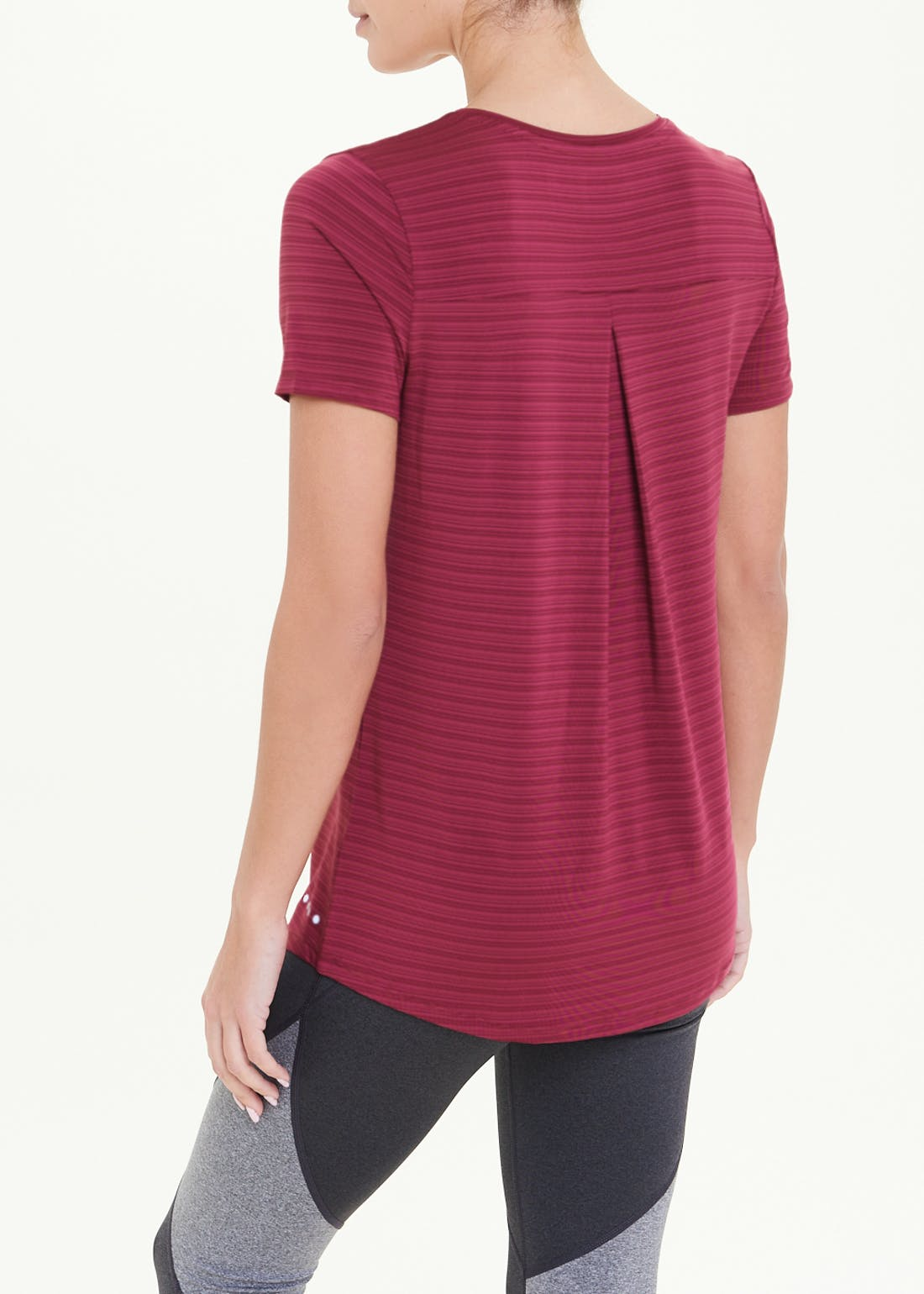 Souluxe Pink Pleat Back Gym T-Shirt