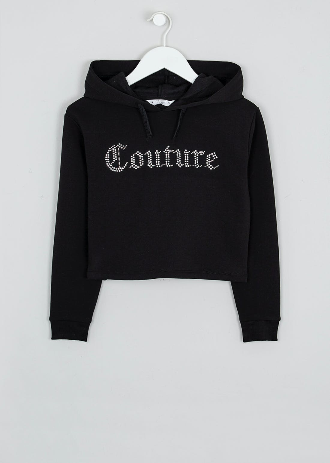 Girls Candy Couture Cropped Slogan Hoodie (9-16yrs)