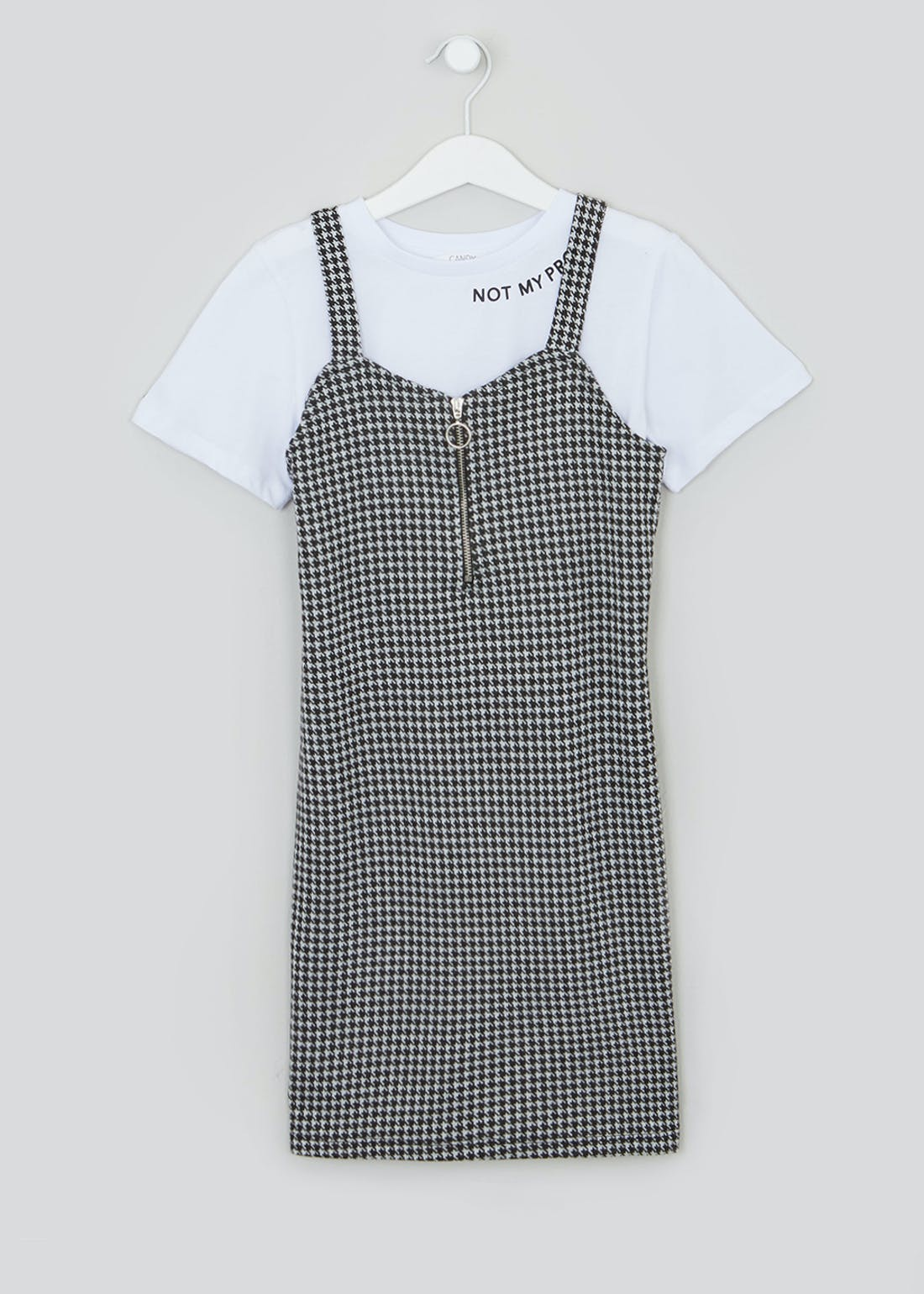 Girls Candy Couture Check Dress & T-Shirt (9-16yrs)