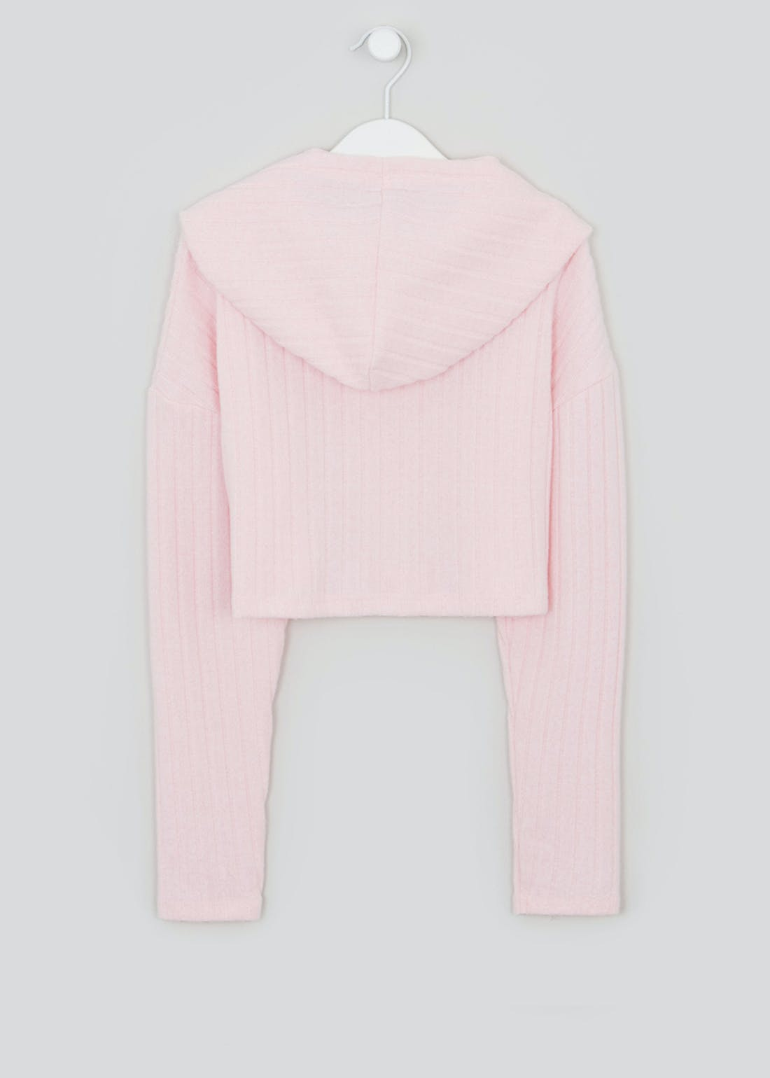 Girls Candy Couture Cropped Rib Hoodie (9-16yrs)