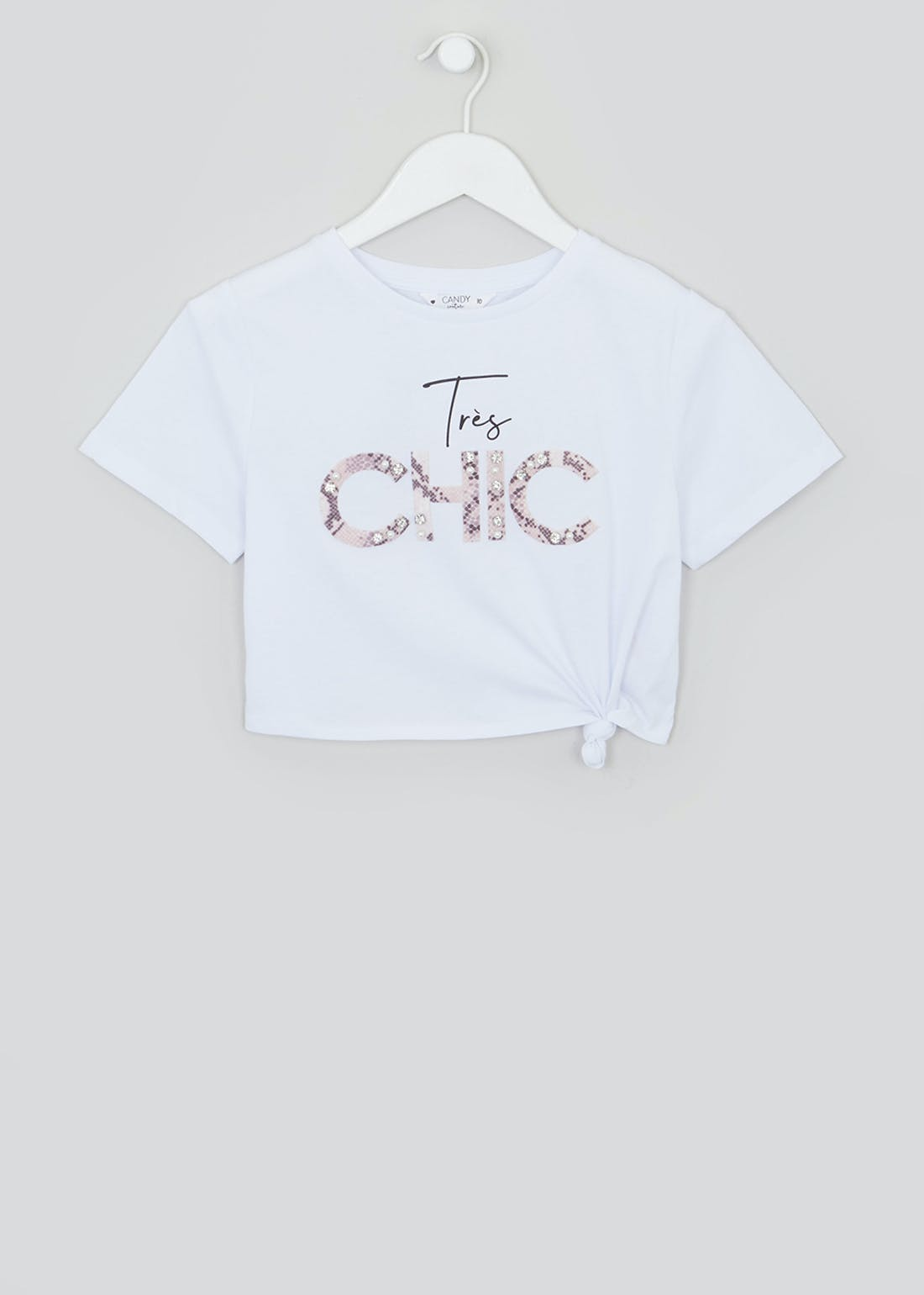 Girls Candy Couture Cropped Slogan T-Shirt (9-16yrs)