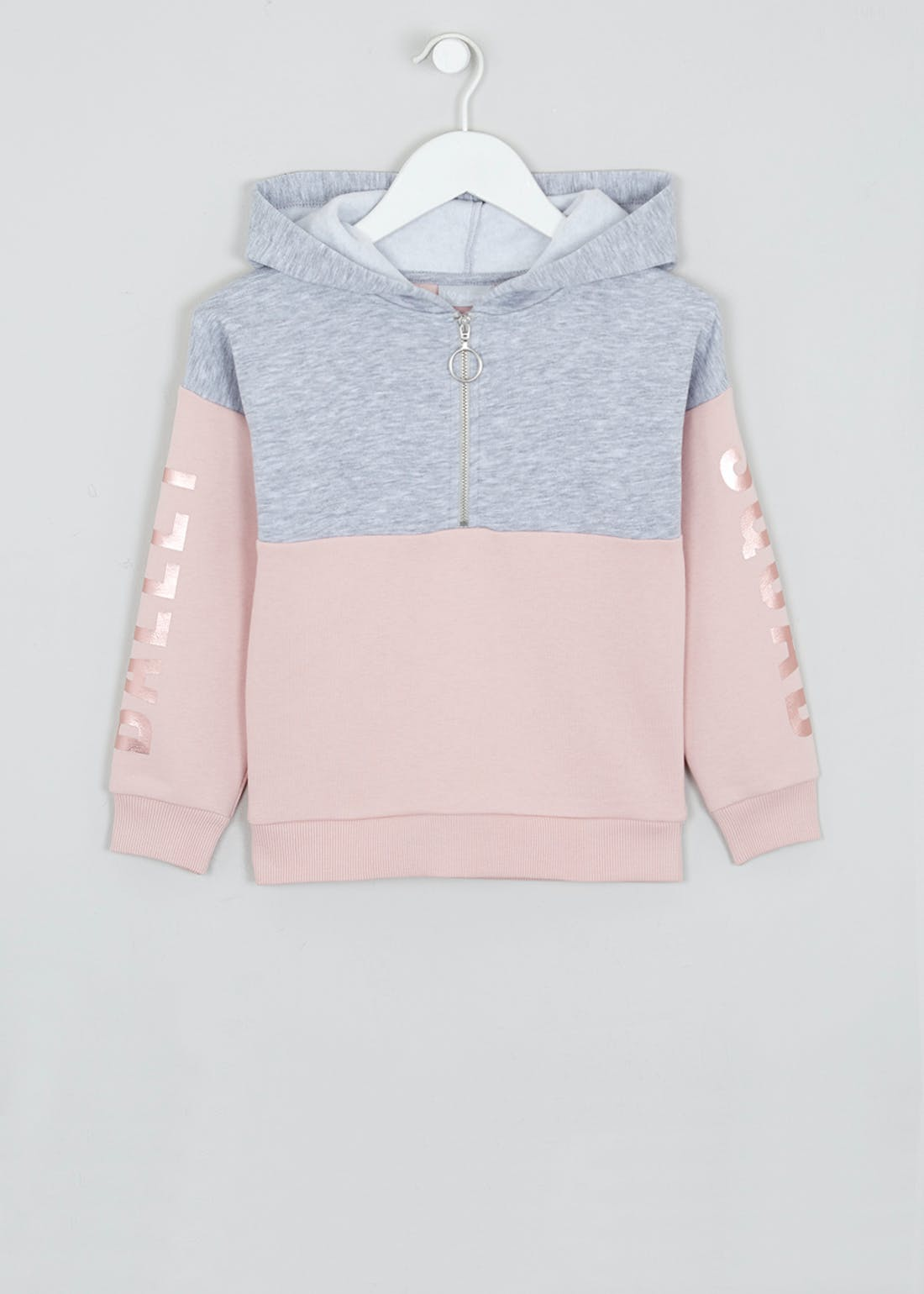 Girls Colour Block Hoodie (4-13yrs)