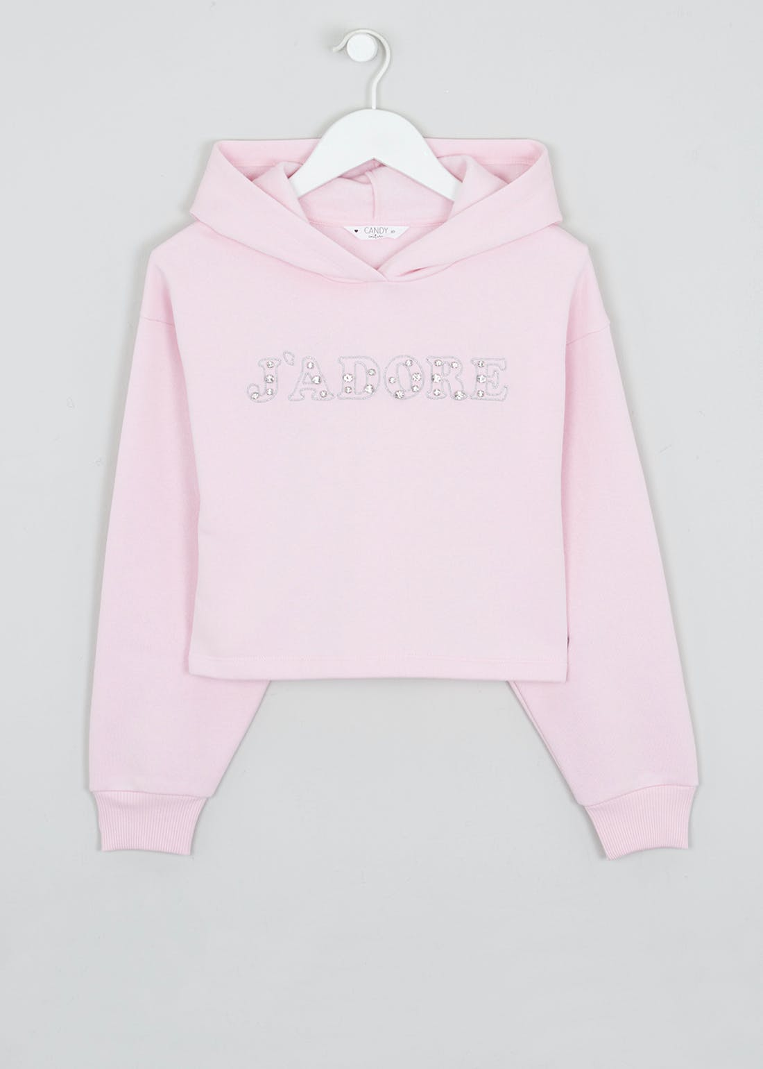 Girls Candy Couture Cropped Hoodie (9-16yrs)