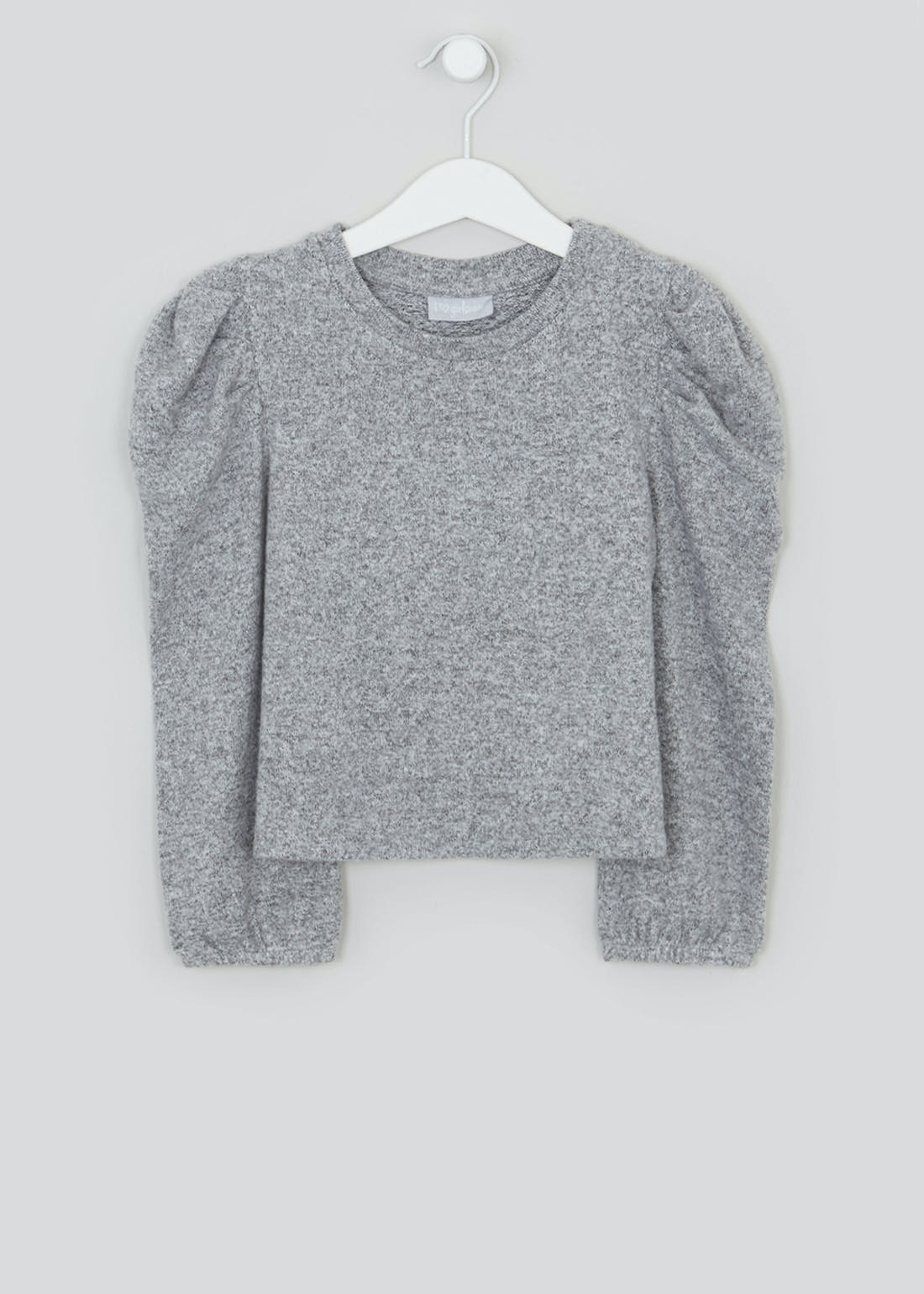 Girls Puff Sleeve Snit Lounge Top (4-13yrs)
