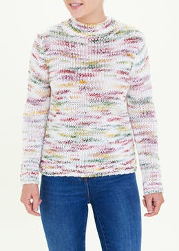 Space Dye Funnel Neck Jumper