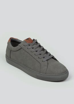 Grey Faux Suede Trainers
