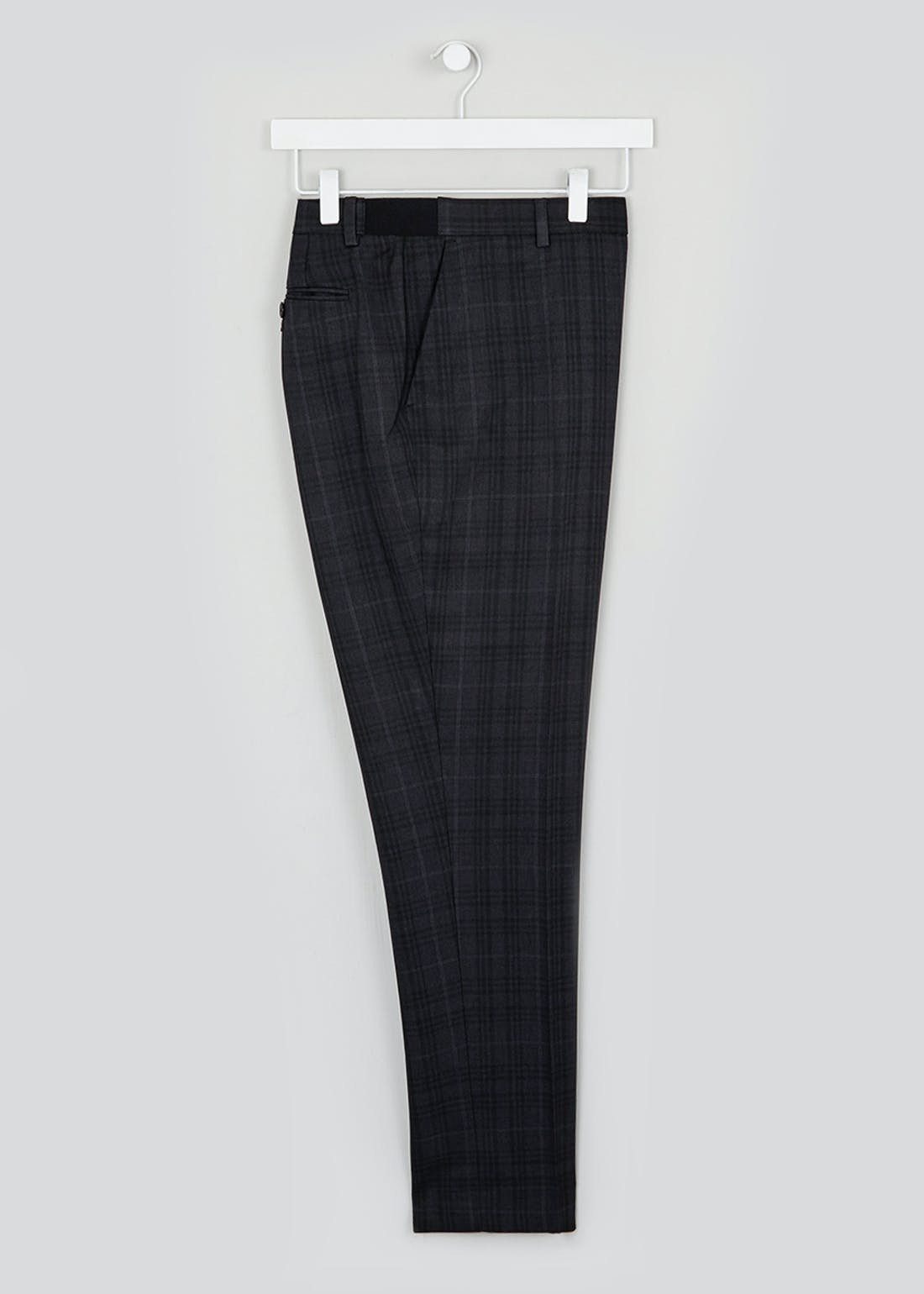 Taylor & Wright Alford Slim Fit Flexi Waist Check Trousers