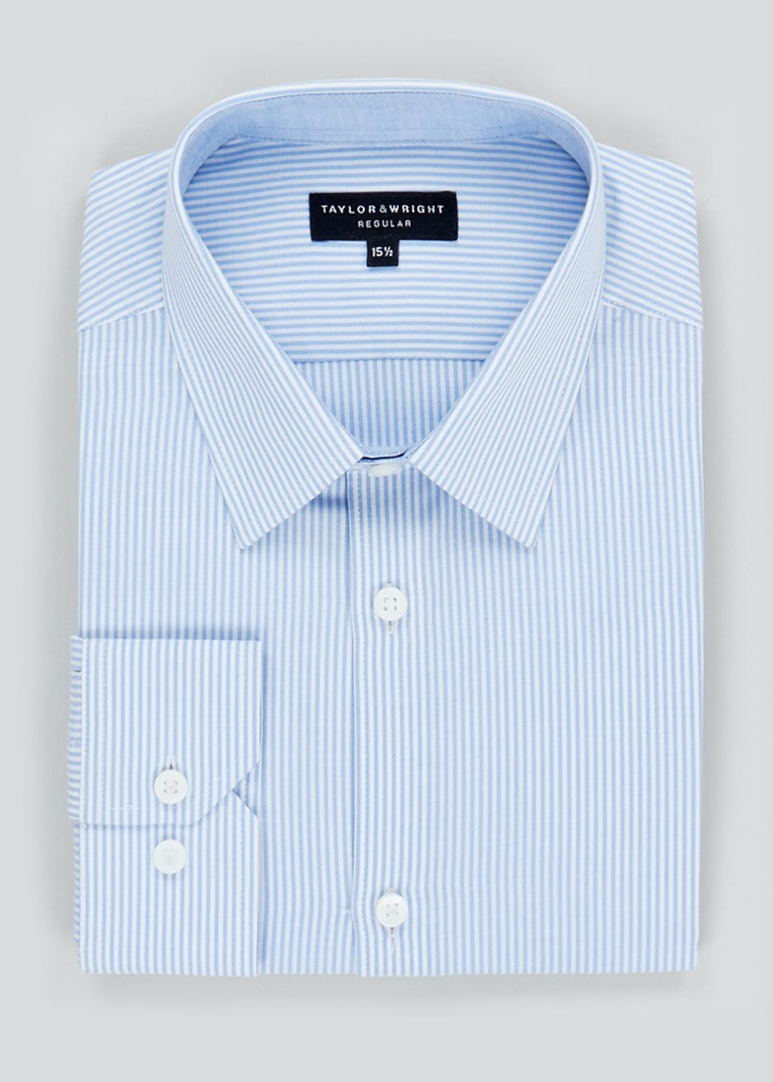 Taylor & Wright Long Sleeve Regular Fit Stripe Shirt