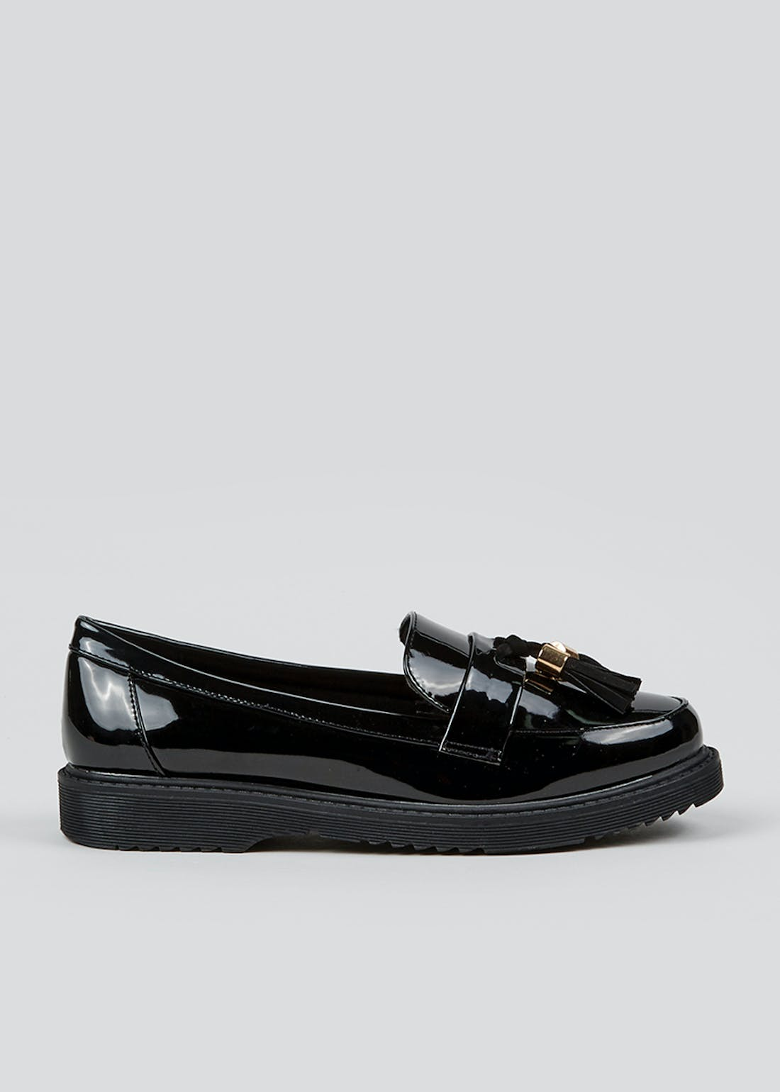 Black Wide Fit Snaffle Loafers