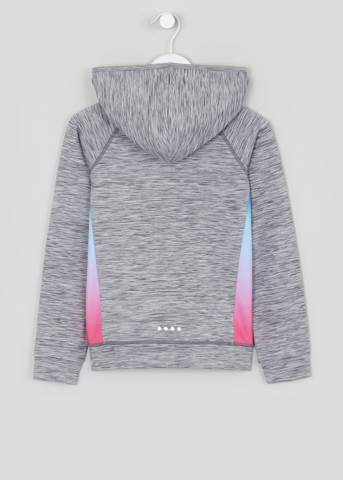 Girls Souluxe Grey Ombre Hoodie (4-13yrs)