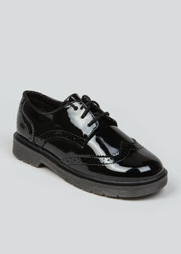 Girls Black Patent Brogues (Younger 13-Older 5)
