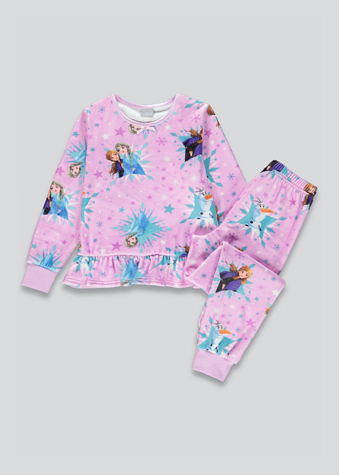 Girls Disney Frozen Fleece Pyjamas (2-9yrs)