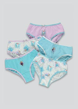 Girls 5 Pack Disney Frozen Knickers (2-7yrs)