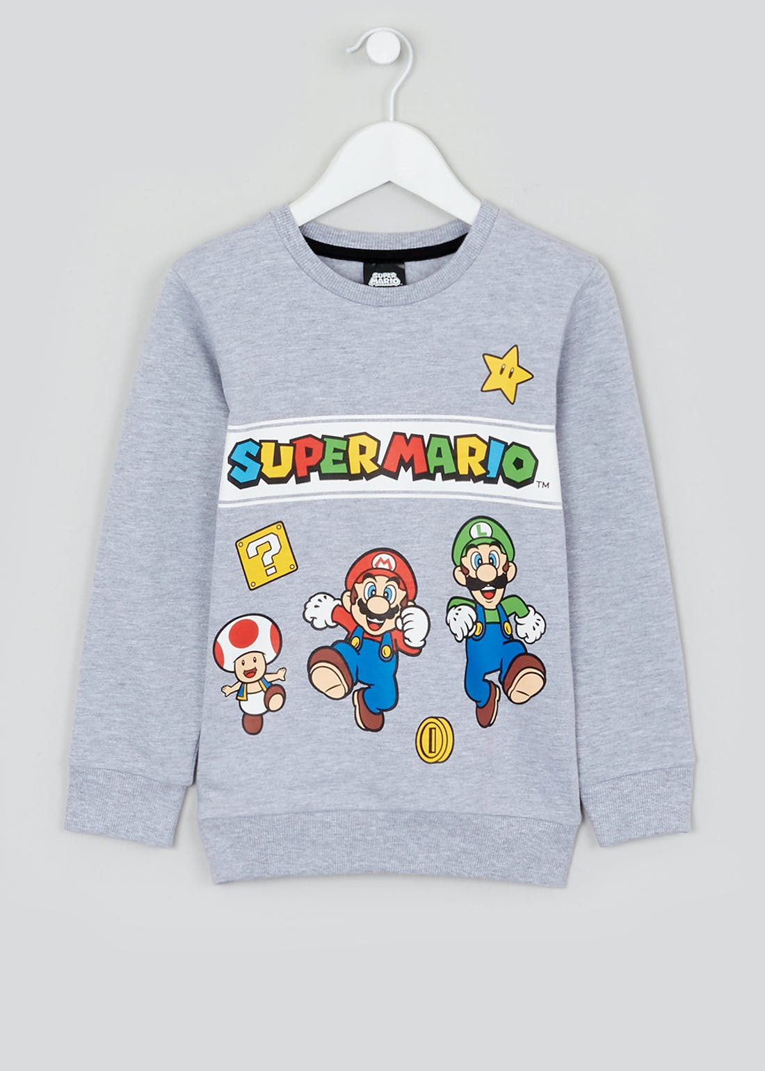 Kids Super Mario Sweatshirt (4-12yrs)