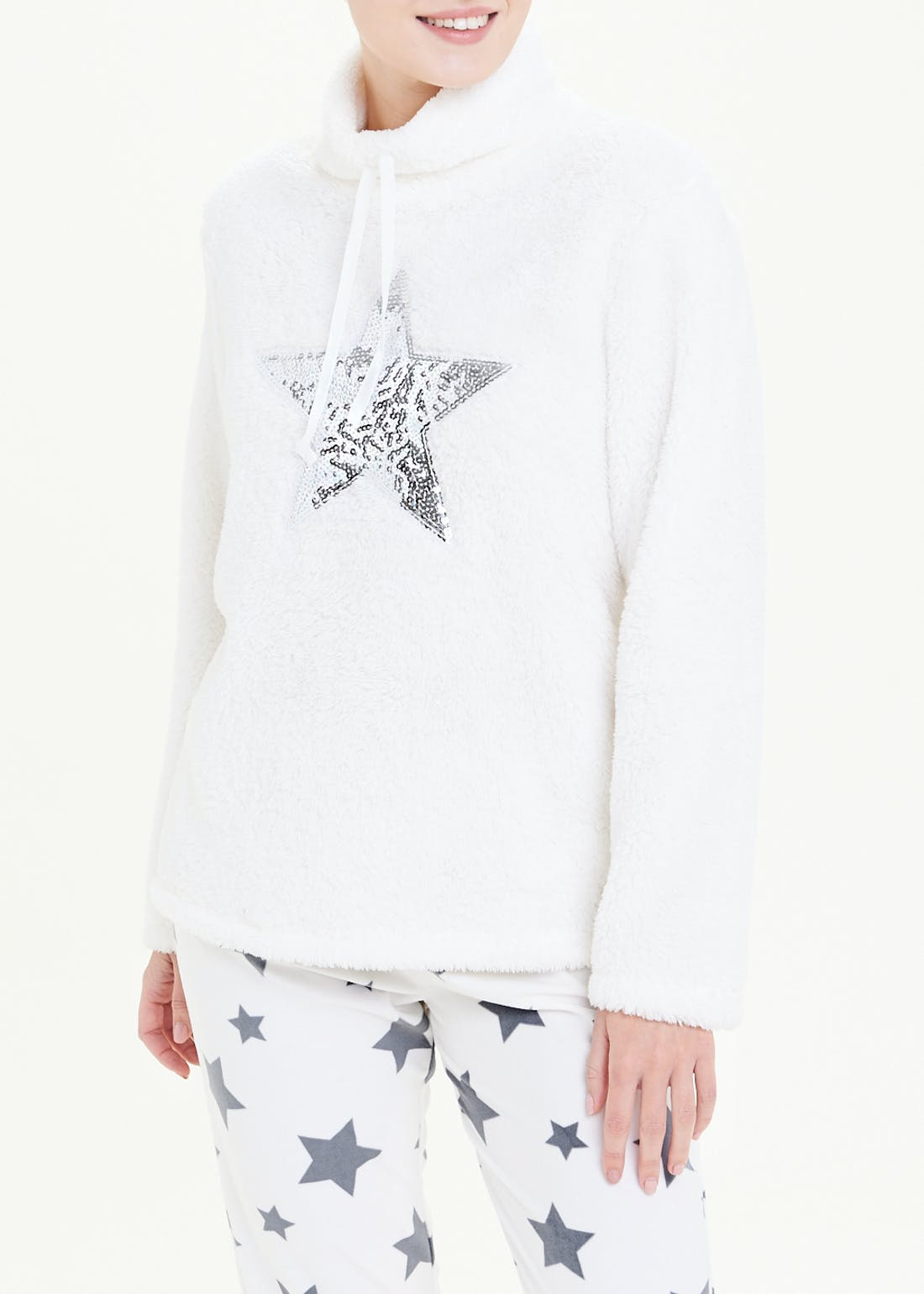 Sequin Star Fleece Pyjamas