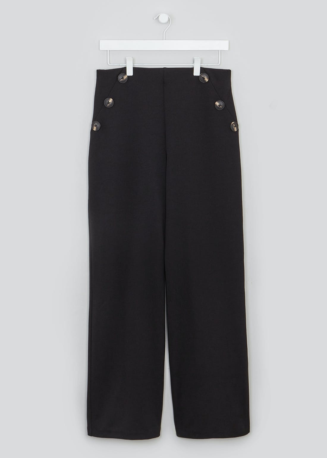 Wide Leg Button Side Trousers