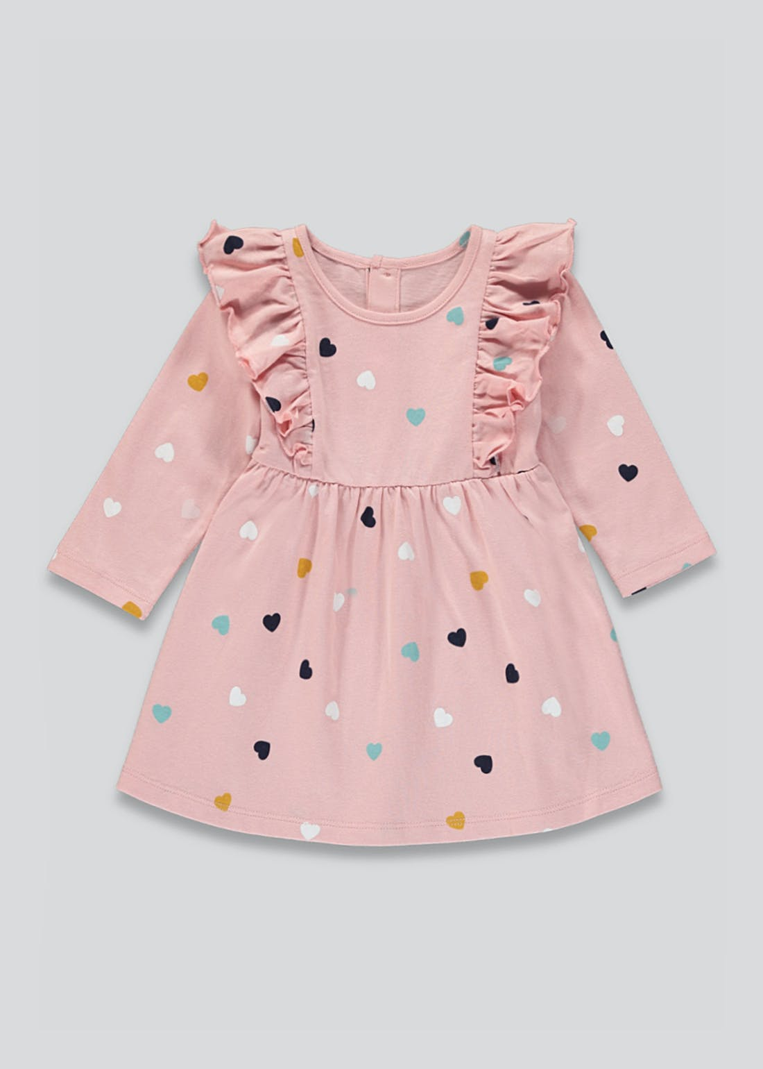 Girls Heart Jersey Dress (Tiny Baby-23mths)