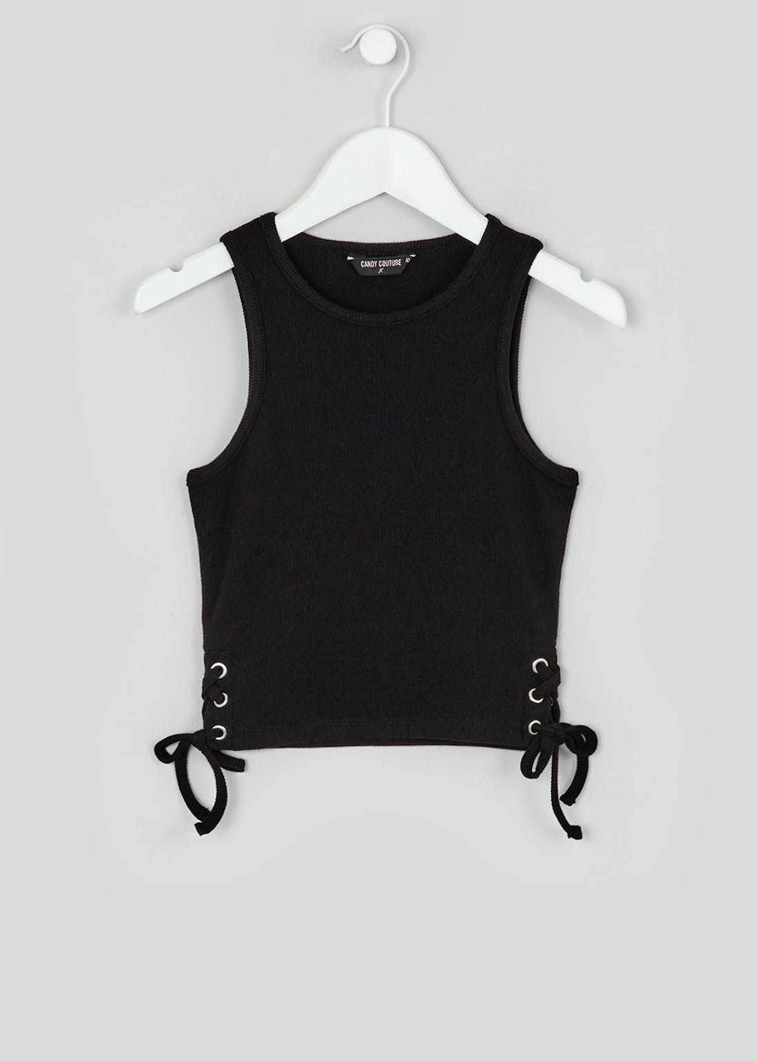 Girls Candy Couture Lace Up Crop Vest (9-16yrs)